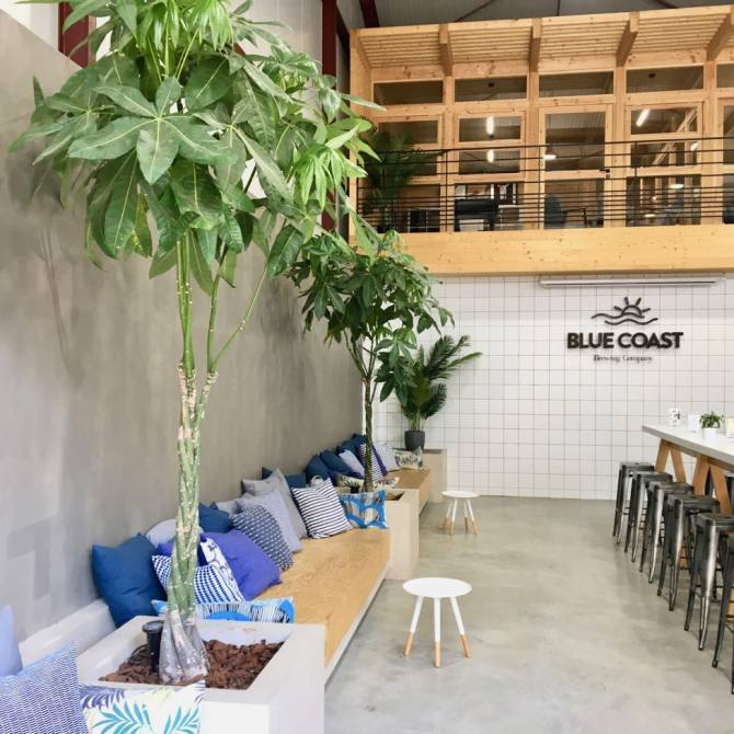Blue Coast Brasserie artisanale Nice interieur
