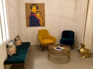 L'Abeille Boutique-appartements à Nice salon