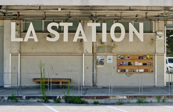 La Station espace d'art contemporain à Nice entrée
