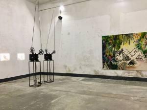Espace vendre galerie d'art contemporain à Nice projection