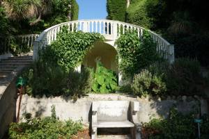 Villa et Jardins Ephrussi de Rothschild Saint-Jean Cap-Ferrat (banc)