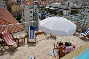 Hotel amour à Nice (terrasse)