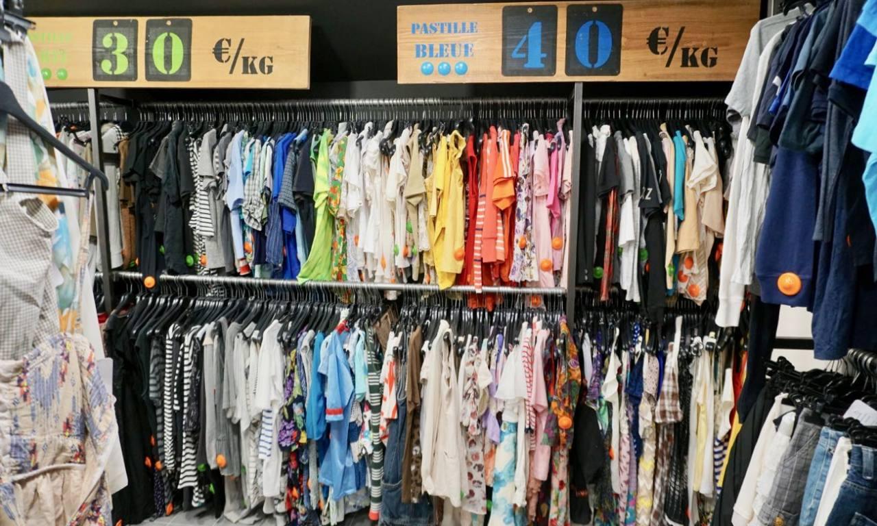Kilo Shop, friperie dans la gare du Sud à Nice (vintage)
