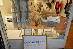 Sœur'elles, concept store in Vieux-Nice (window)