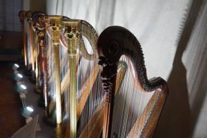 Palais Lascaris, musée baroque dans le Vieux-Nice (harpes)