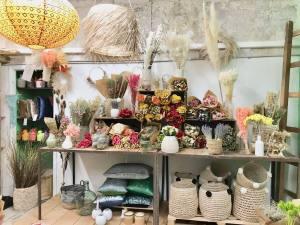 Boho, jardinerie et concept-store végétal à Nice (paniers et coussins)