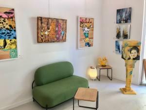 Le container, galerie spécialisée dans le graffiti, street-art et art contemporain à Nice (salle d'expo)
