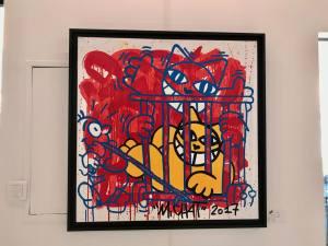 Le container, galerie spécialisée dans le graffiti, street-art et art contemporain à Nice (peinture Mr Chat)