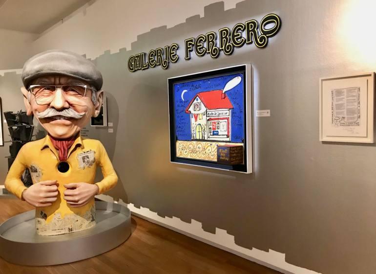 Les Années Joyeuses, exposition Jean Ferrero et ses amis artistes au Musée Massena (entrée)
