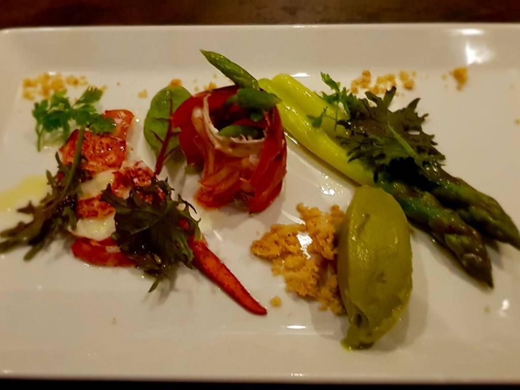 Les sens, restaurant in Nice (a dish)