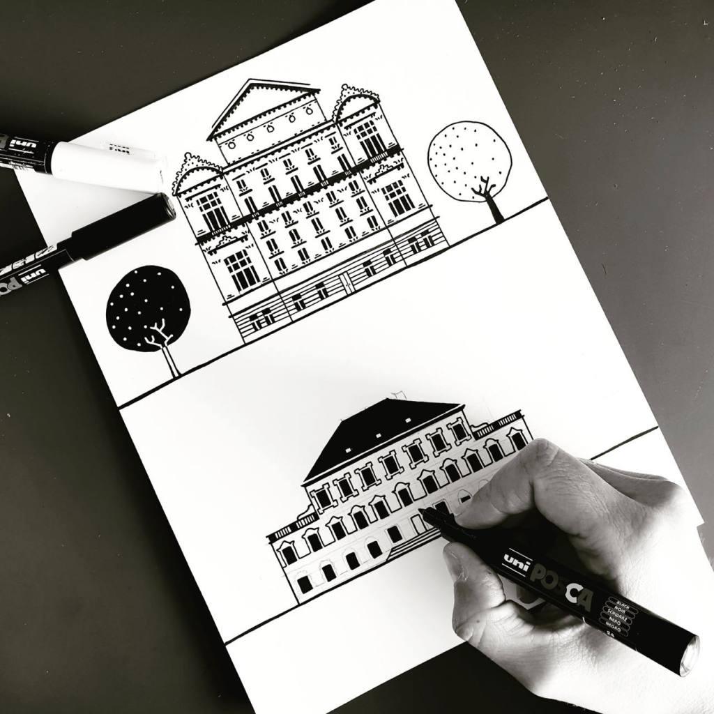 Laurette architecte, illustratrice à Nice (making of)