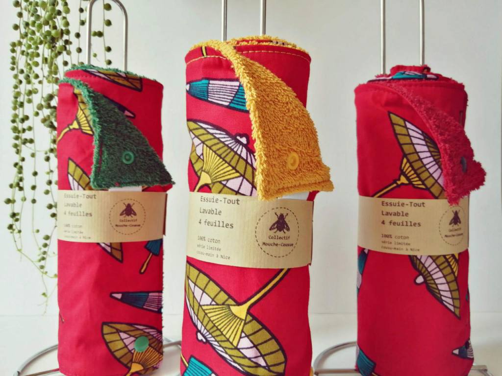 Collectif Mouche-Cousue, sewing workshop in Nice (towels)