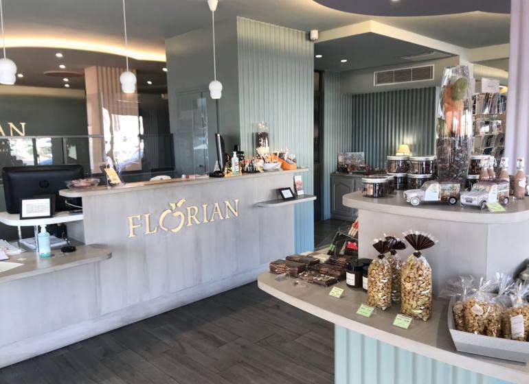 Florian, Confiserie artisanale sur le Port de Nice (caisse boutique)