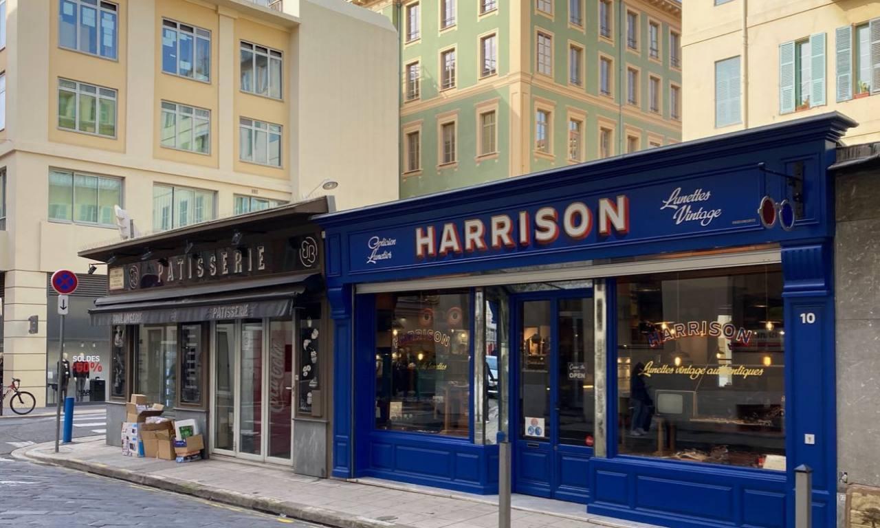 Harrison, opticien et lunetier vintage à Nice (devanture)
