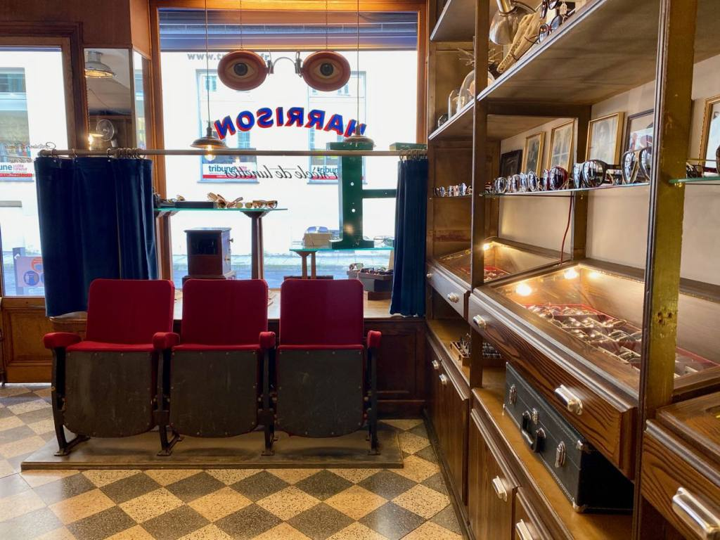 Harrison, opticien et lunetier vintage à Nice (intérieur)