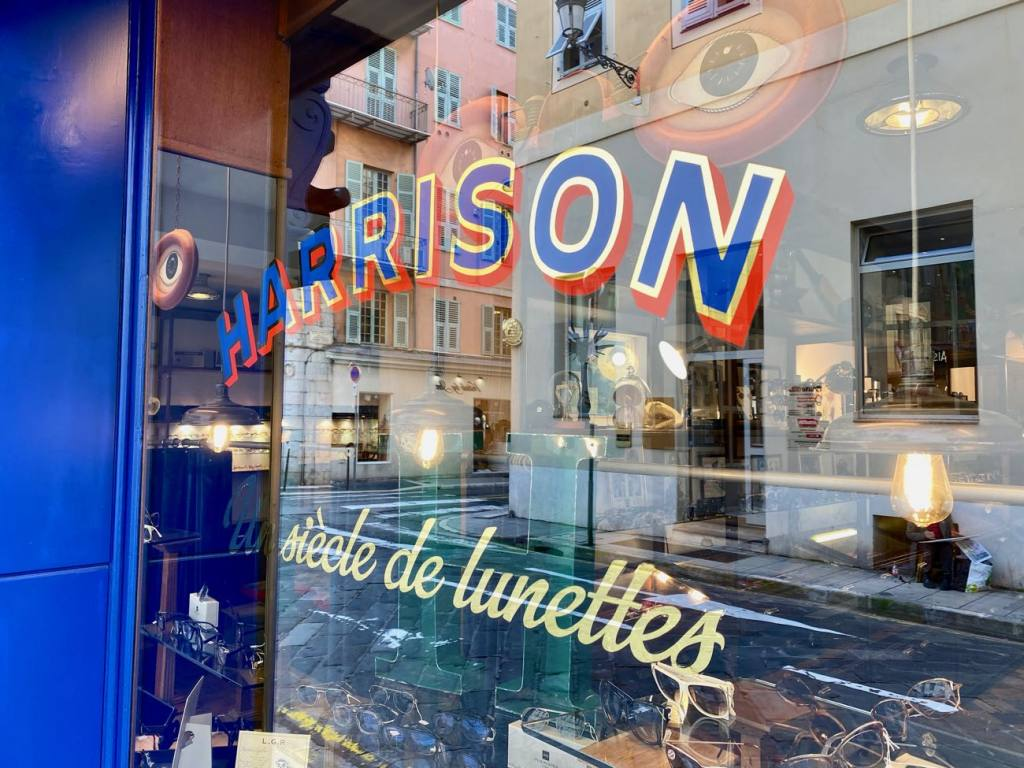 Harrison, optician and vintage glasses in Nice (the window)