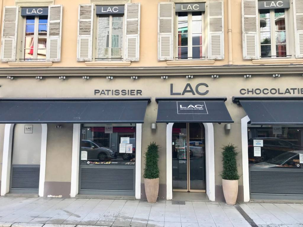 Lac, pâtissier and chocolate maker in Nice (frontage)