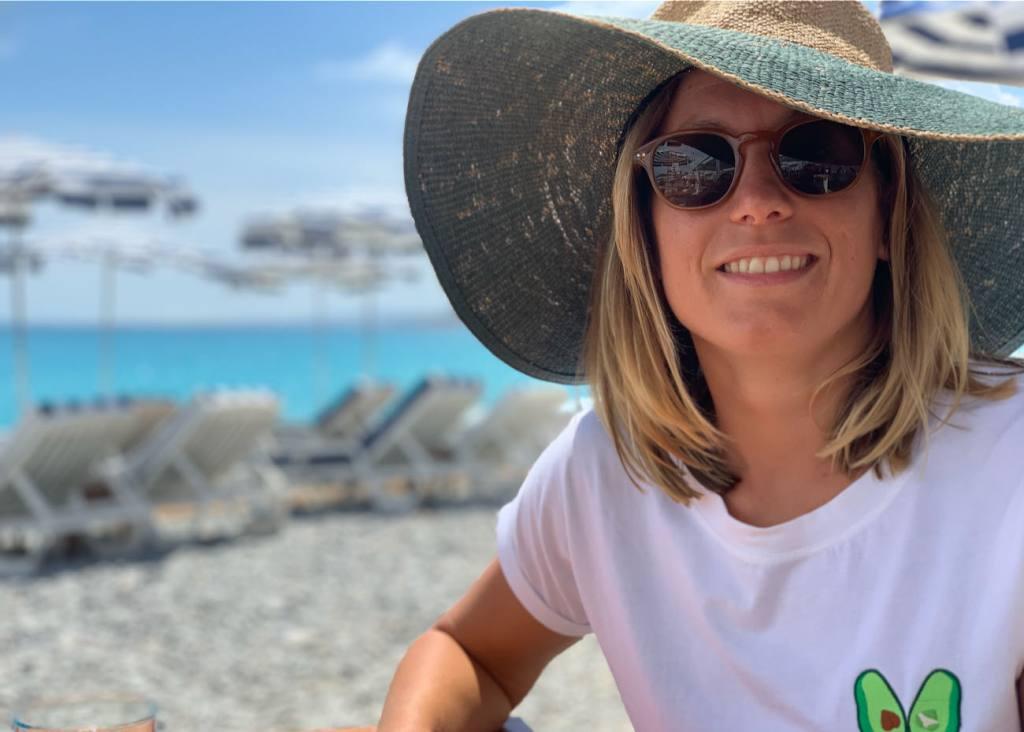 Aurélie Muller, nageuse professionnelle à Nice (vacances)