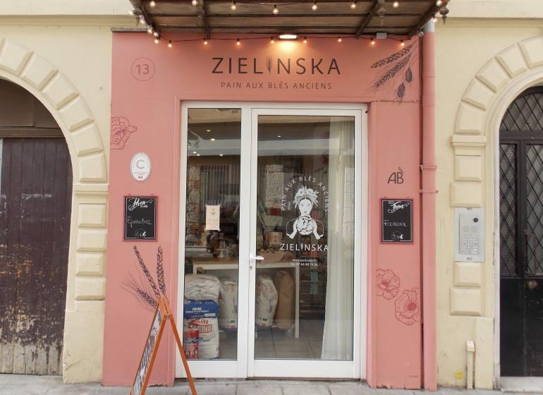 Zielinska, boulangerie de pains anciens à Nice (devanture)