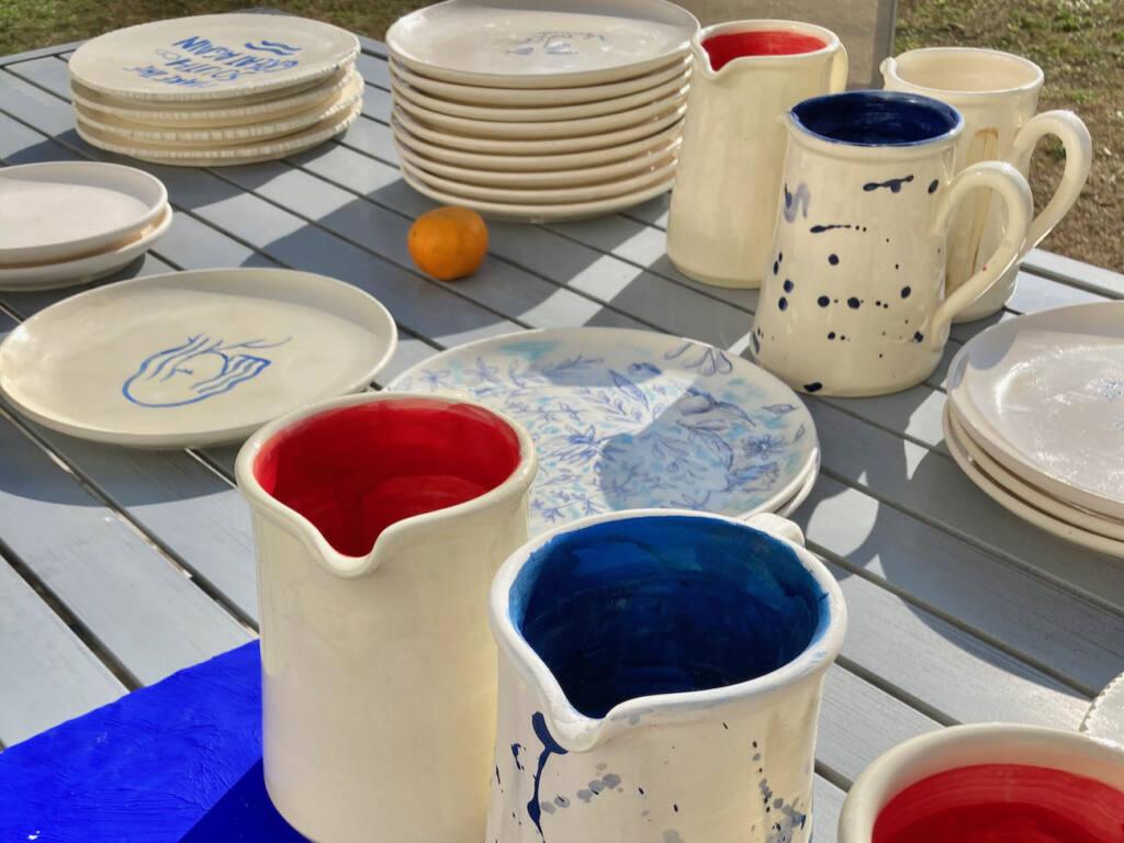 Franck Lebraly, artiste peintre du Sud (vaisselle)