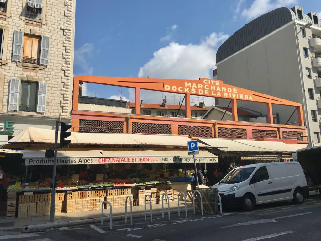Marché couvert des Docks de la Riviera, Nice (rue)