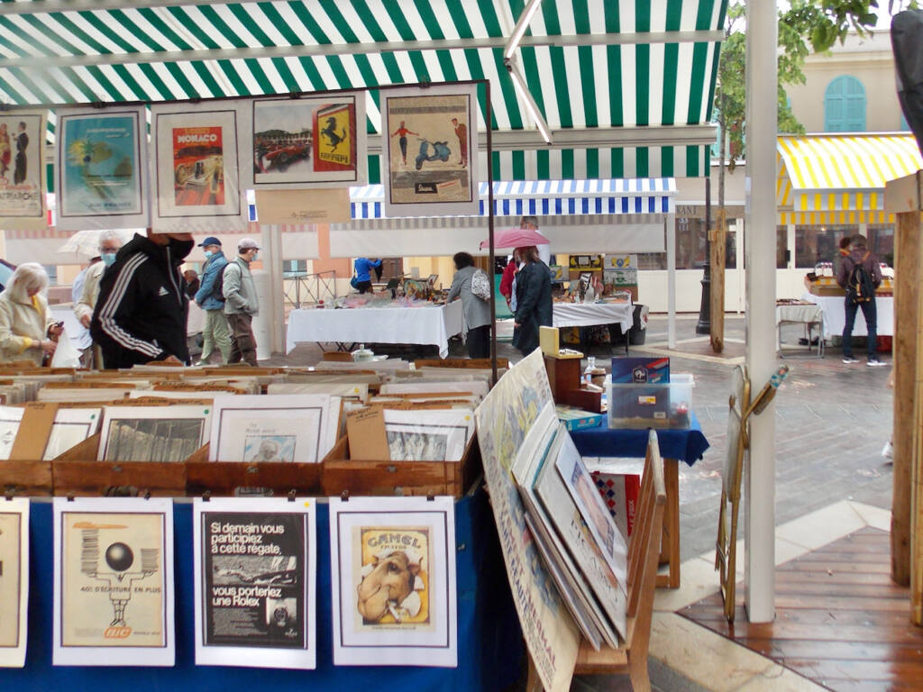 Marché des antiquaires à Nice (affiches)