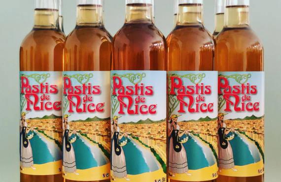 Pastis de Nice, alcool du Sud, Nice (étiquette)