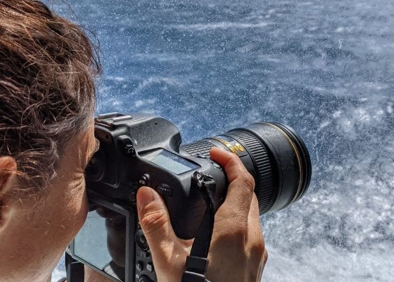 Perrine de la Bretesche, photographe à Nice (appareil photo)
