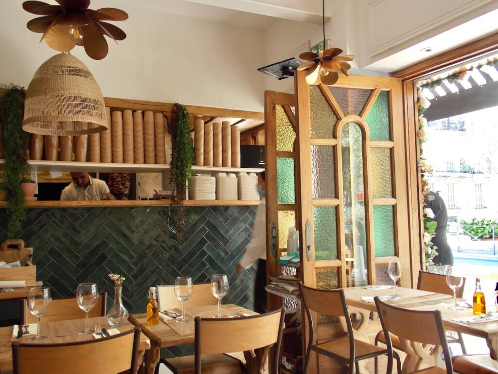 Beyrouth café, Lebanese restaurant in Nice (interior)