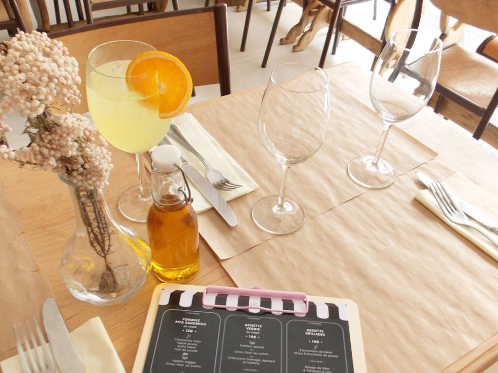 Beyrouth café, restaurant libanais à Nice (limonade)