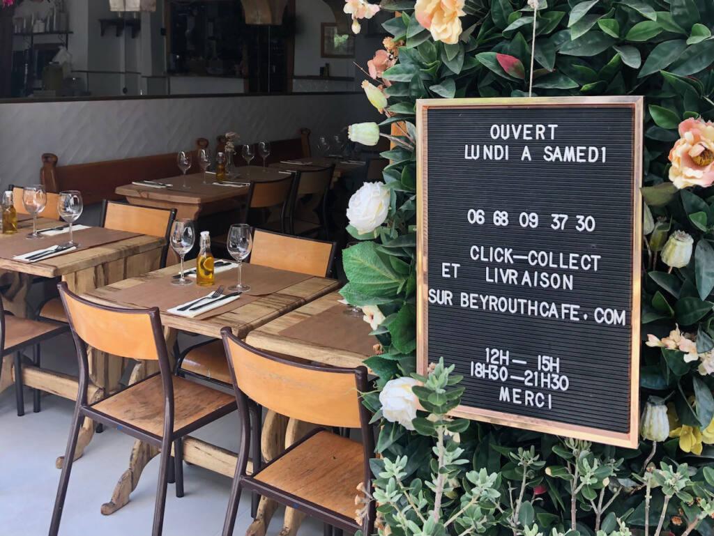 Beyrouth café, restaurant libanais à Nice (chaises)