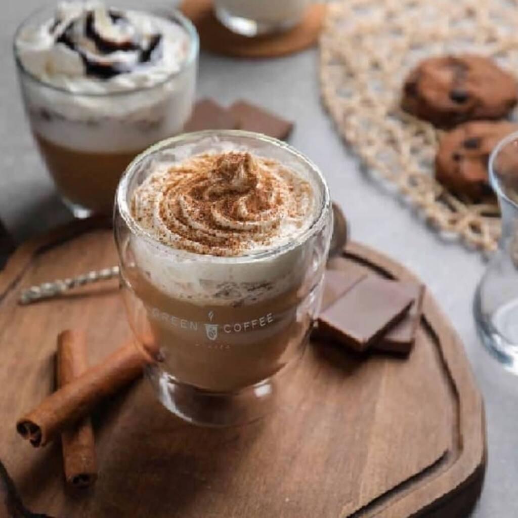 Green coffee, organic coffee, Nice city guide Love spots (coffee with chocolate)