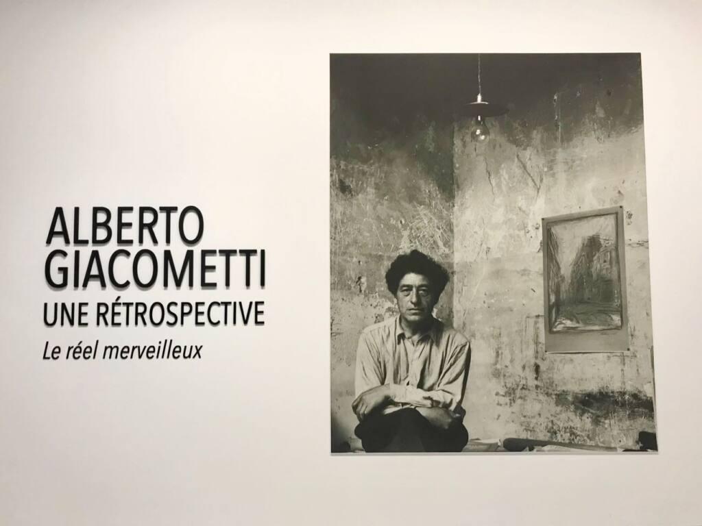 Le réel merveilleux : rétrospective Alberto Giacometti au Forum Grimaldi de Monaco (autoportrait)