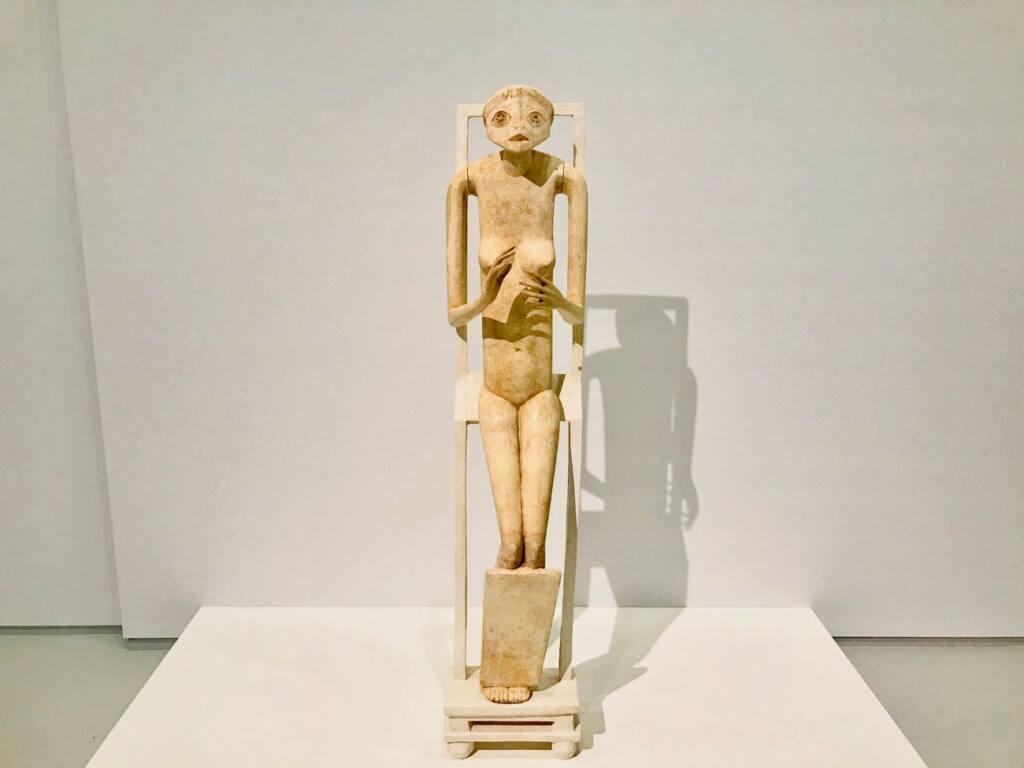 Le réel merveilleux : rétrospective Alberto Giacometti au Forum Grimaldi de Monaco (statuette)