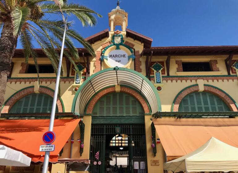 Halles de Menton: covered market with fresh produce and local artisans (entrance)