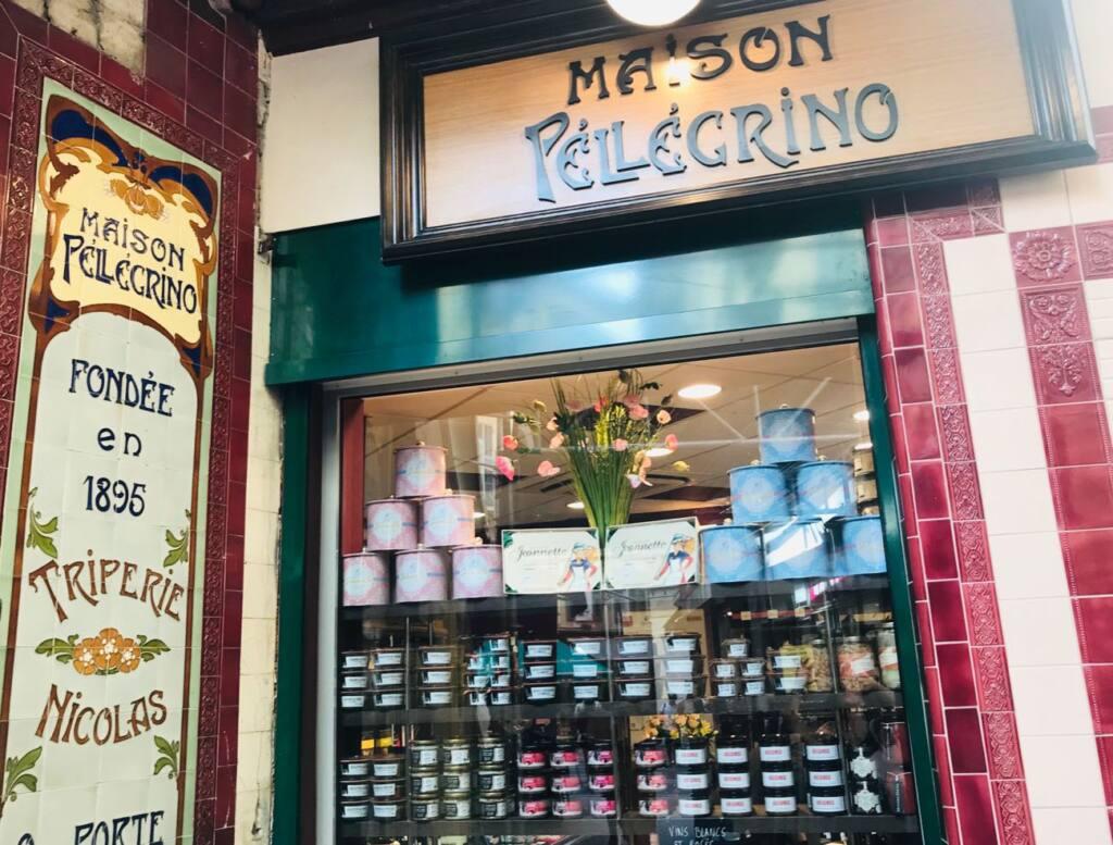 Maison Pellegrino : Cave à vins, épicerie fine et bar à manger dans le Vieux-Nice (listed facade)