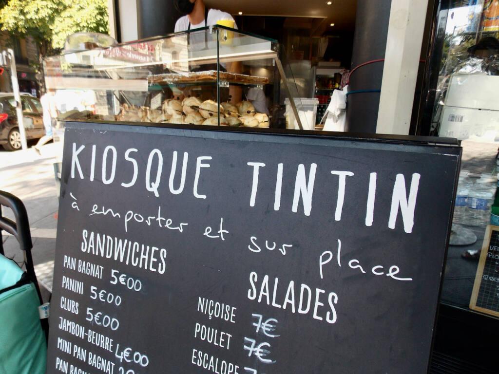 Kiosque tintin, pan bagnat in Nice