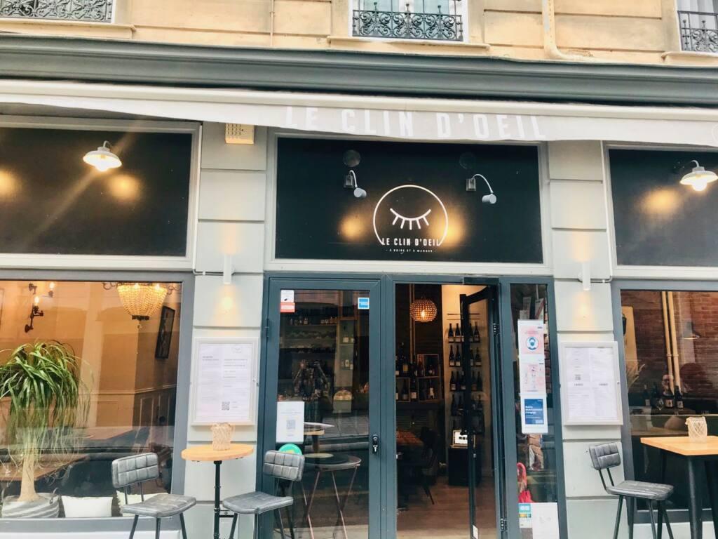 Le Clin d'Œil : restaurant, cellar and wine bar in Nice (facade)