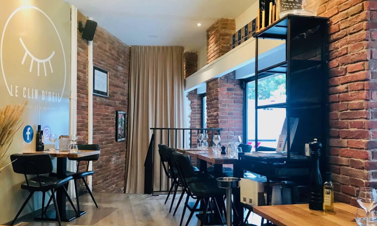 Le Clin d'Œil : restaurant, bar et cave à vins à Nice (salle)