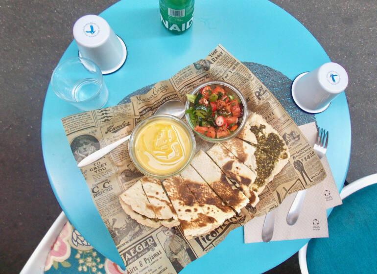 Saj, Mediterranean restaurant in Nice (dishes)