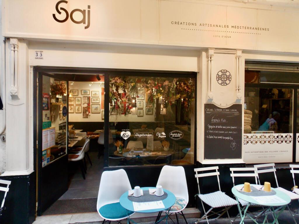 Saj, Mediterranean restaurant in Nice (frontage)