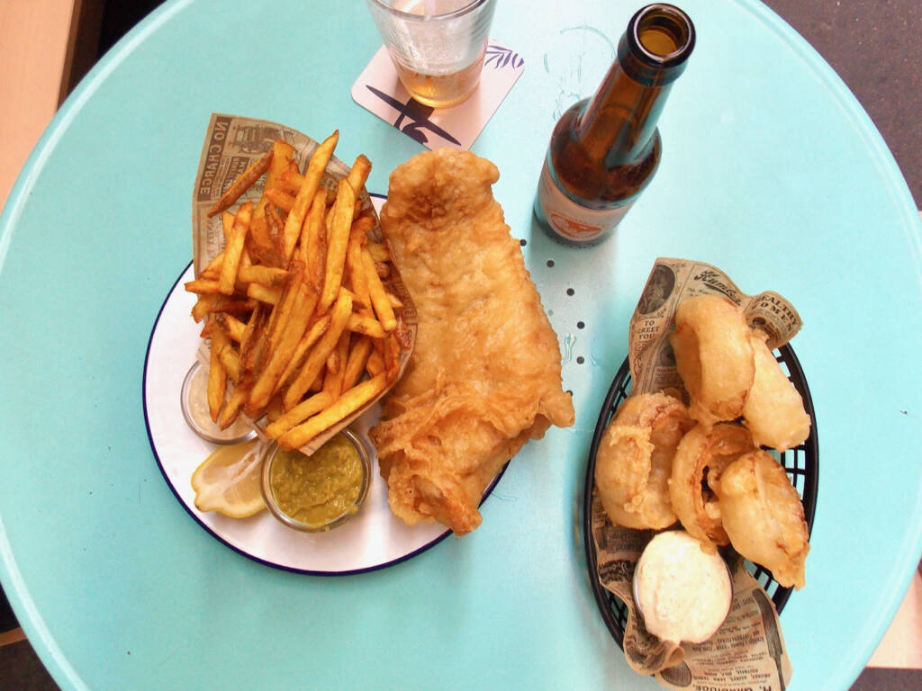 The Fat Mermaid, fish and chips (fish)