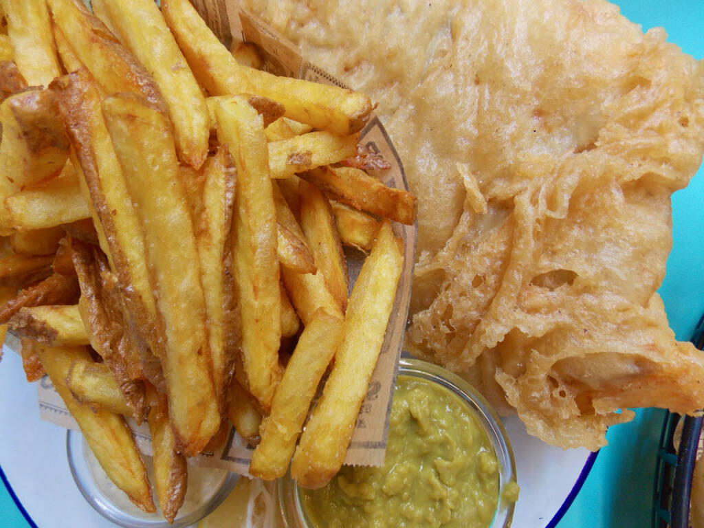 The Fat Mermaid, fish and chips (frites)